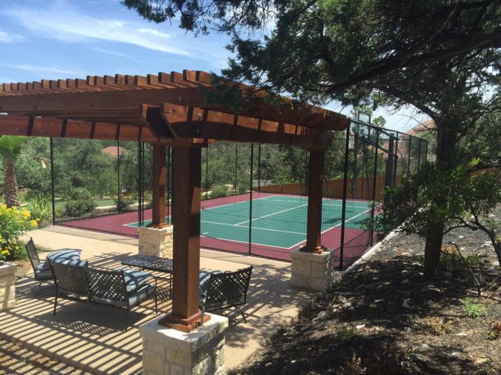 San Antonio   Backyard Sport Court
