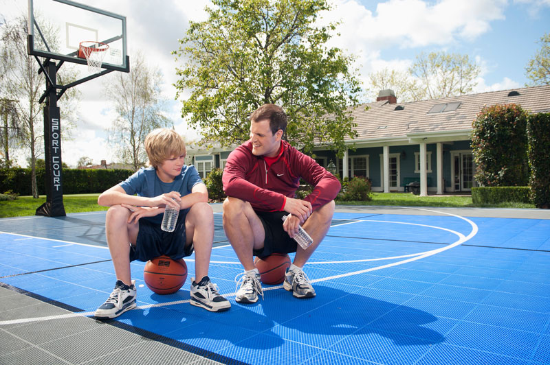 father son basketball