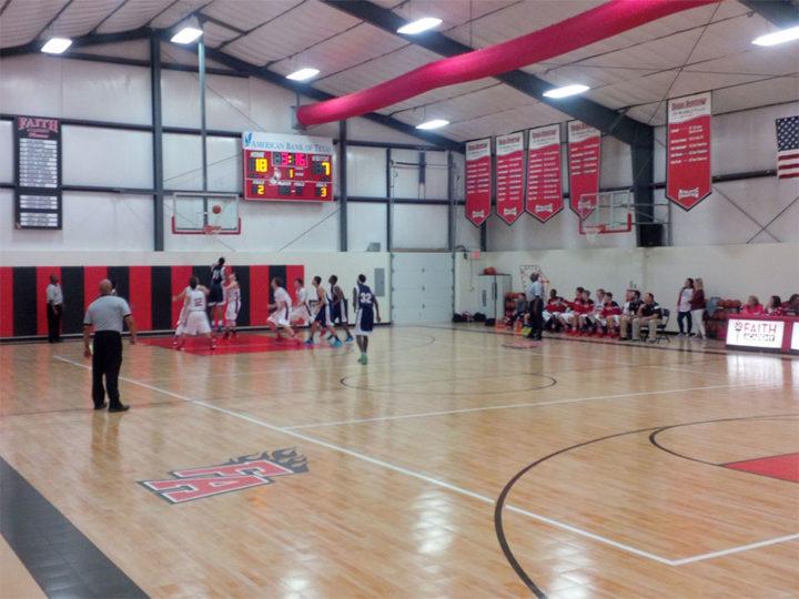 school basketball flooring